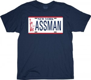 Seinfeld New York Assman License Plate T-Shirt