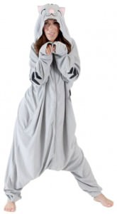 Soft Kitty Kigurumi Hooded Onesie Pajamas