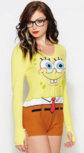 Women's SpongeBob Squarepants Romper Costume