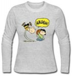 Charlie Brown And Lucy Football Long Sleeve T-Shirt