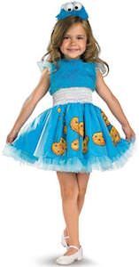 Sesame Street Toddler Girls Cookie Monster Dress Costume