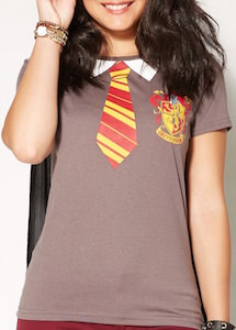 Harry Potter Gryffindor Costume T-Shirt with Cape