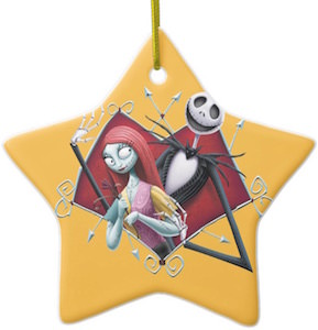 Jack Skellington And Sally Christmas Ornament