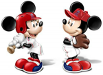 Mickey And Minnie L.A. Angels Salt And Pepper Shakers