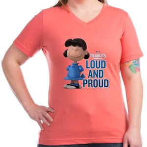 Peanuts Lucy Loud And Proud Women's T-Shirt
