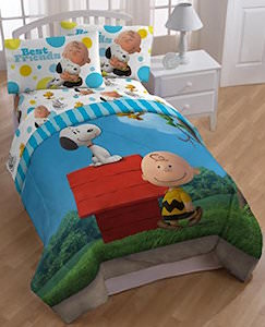 Best Friends Snoopy And Charlie Brown Comforter Set