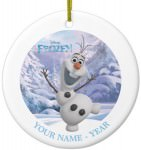 Frozen Olaf Personalized Christmas Ornament