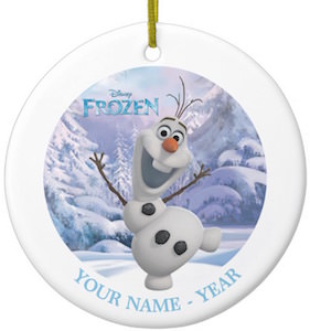 Olaf Personalized Christmas Ornament