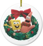 Spongebob And Patrick Christmas Wreath Ornament