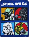 Star Wars Character Blocks Throw Blanket