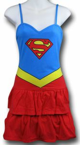 Supergirl Tiered Ruffles Dress