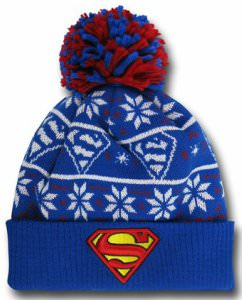 Supergirl Symbol Knit Ugly Sweater Hat