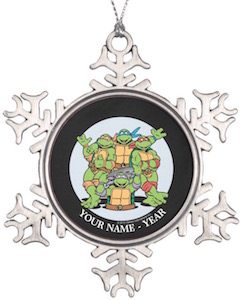Ninja Turtles Personalized Christmas Ornament