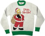 Homer Simpsons Doh Ho Ho Ugly Christmas Sweater