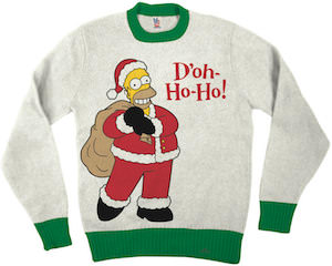 Homer Simpsons Doh Ho Ho Christmas Sweater