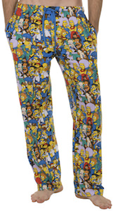 The Simpsons Springfield Characters Pajama Pants