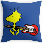 Woodstock Carrying Guitar Throw Pillow