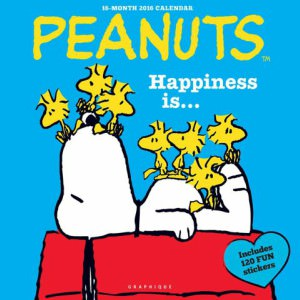 2016 Happiness Is Peanuts Wall Calendar