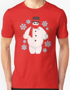 Baymax The Frosty Snowman T-Shirt