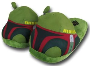 Boba Fett Head Plush Slipper