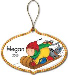 Caillou And Gilbert Personalized Christmas Tree Ornament