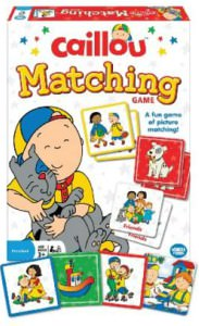 Caillou Memory Matching Card Game