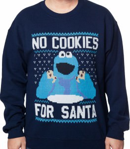 Cookie Monster None For Santa Sweater