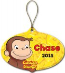 Curious George Personalized Christmas Ornament
