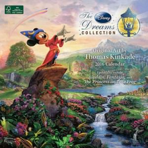 Disney Thomas Kinkade Artwork 2016 Wall Calendar