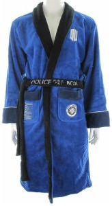 Doctor Who Tardis Fleece Bath Robe