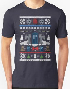 Doctor Who Ugly Christmas Sweater Design T-Shirt