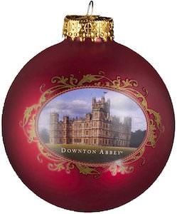 Downton Abbey Glass Ball Christmas Ornament