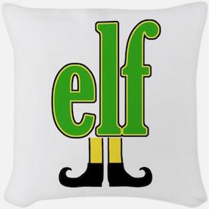 Elf Logo Throw Pillow