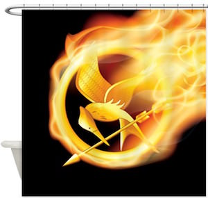 Flaming Mockingjay Shower Curtain