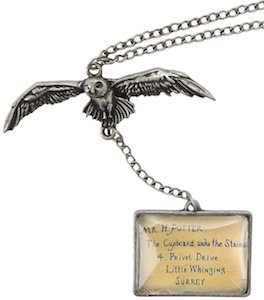 Harry Potter Owl And Hogwarts Acceptance Letter Necklace