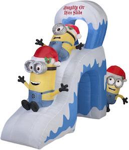 Minion Naughty Or Nice Christmas Outdoor Inflatable