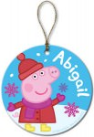 Peppa Pig Personalized Christmas Ornament