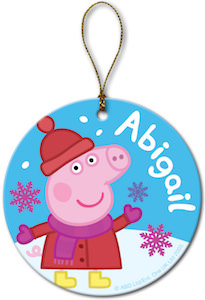 Peppa Pig Snowflake Ornament