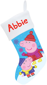 Peppa Pig Personalized Christmas Stocking