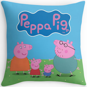 Peppa Pig Family Throw Pillow
