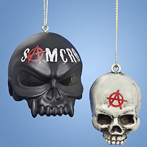 SAMCRO Skulls Christmas Ornaments