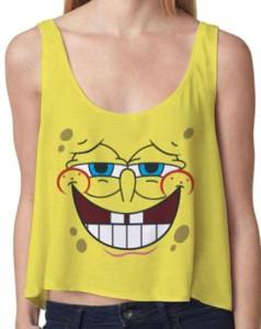 SpongeBob Girls Crop Tank Top