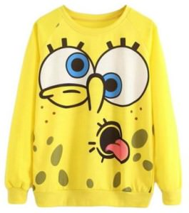 SpongeBob Squarepants Funny Face Sweater