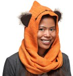 Star Wars Ewok Costume Scarf With Hood