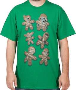 Star Wars Gingerbread Characters T-Shirt