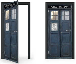 Tardis Door Wrap Decal