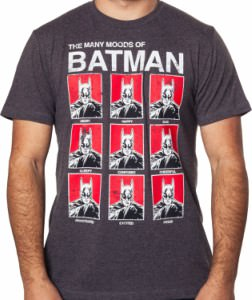 The Moods Of Batman T-Shirt