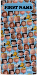The Peanuts Movie Personalized Beach Towel