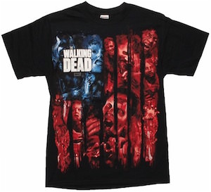 The Walking Dead Walkers Flag T-Shirt