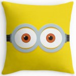 Two Eye Minion Face Throw Pillow